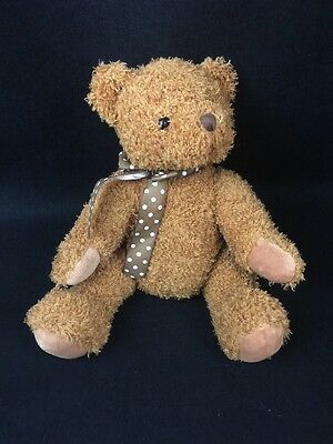 "Hermann Teddy Bear 10"" Gold Fully Jointed Tagged Germany With Sound #90946"