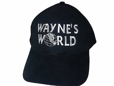 Wayne's World Black Baseball / Outdoor Cap Embroidered Quality Hat