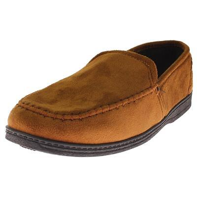 Dockers 4132 Mens Tan Faux Suede Slip On Loafer Slippers Shoes 9 Medium (D) BHFO