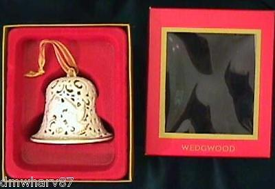 UNDATED Our First Christmas BELL / WEDGWOOD Ornament  White with Doves, NIB!