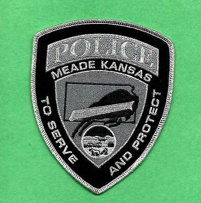 Kansas-Awesome Buffalo-Newer Style-Meade Police Department-Nice Patch