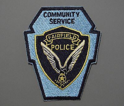 FAIRFIELD California POLICE Community Service Officer CSO Patch ++ Mint CA