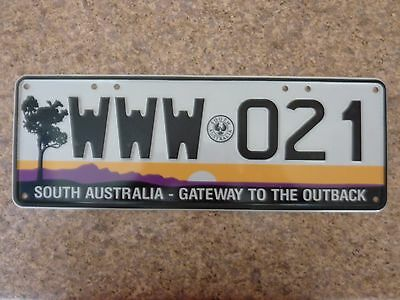 South Australia  car number plate WWW 021