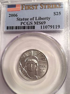 2006 1/4 oz Platinum American Eagle MS-69 PCGS (First Strike)