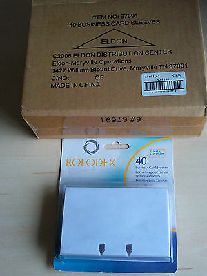 Box of 5 (200pcs) NEW ROLODEX 67691 Business Card Tray Refill Sleeves