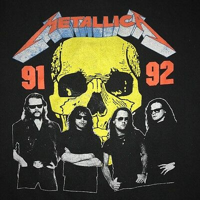 90s Vintage Metallica Shirt Original Metal Band Concert Super Rare 1992 Tour