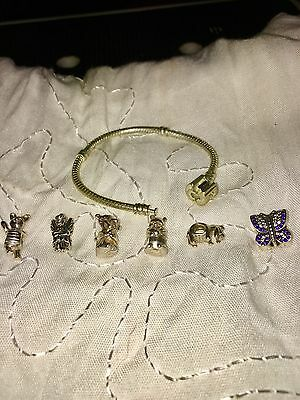 Pandora Sterling Silver Bracelet And Winnie The Pooh  Charms