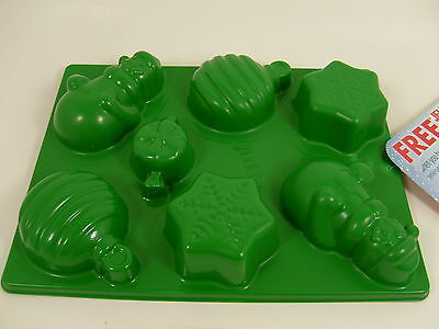 Holiday Jello Jiggler Mold & Shapes Snowman Snowflake Ornament Candy