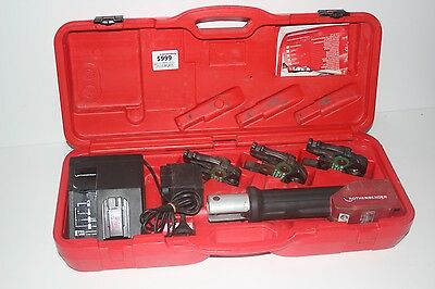 Rothenberger 15-25mm Romax Press Tool Kit Cordless Rechargeable Operate Pipe
