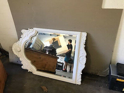 SHABBY CHIC VINTAGE COUNTRY STYLE MIRROR wall mirror 124 x 75cm home decor