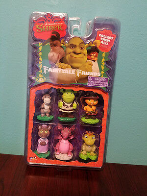 Shrek Fairytale Friends Mini Figures MGA Donkey Puss in Boots Dragon  2006  NEW