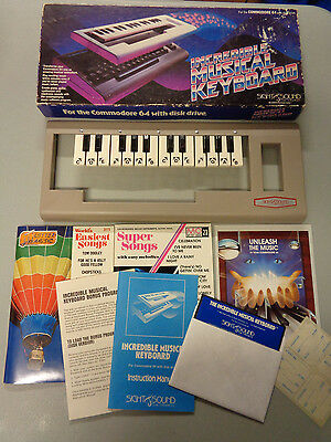 Commodore 64 Incredible Musical Keyboard w/Box Vintage 1984 Sight & Sound 80's
