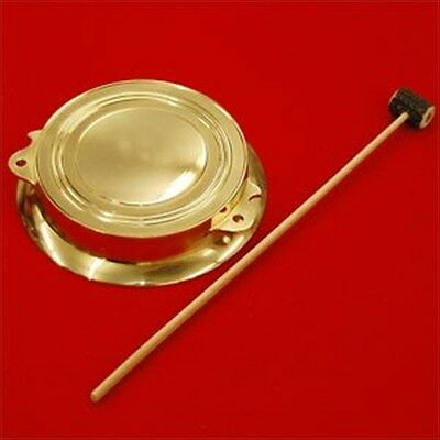 New Chanchiki Atarigane Japanese Gong with a wooden bell hammer from Japan F/S