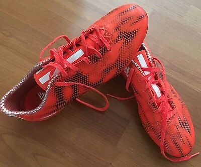 Mens Adidas Size US 10 Soccer Boots - orange - great condition