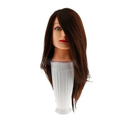 100% Human Hair Practice Head Training Mannequin Hairdressing Cosmetology Salon