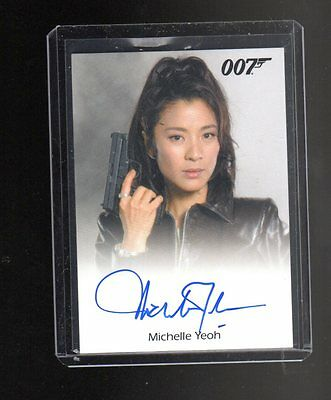James Bond Archives Final Edition Michelle Yeoh Autographed card #2
