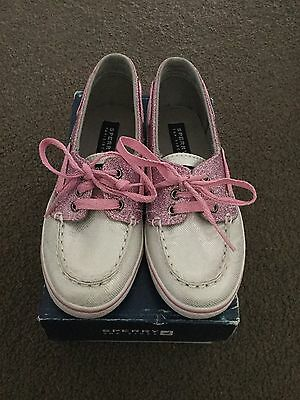 Brand New Pair Girls SPERRY Top-Sider Cruiser Shoes Silver/Pink US 13 UK 12.5