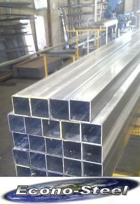 RHS STEEL SQUARE TUBE 75x50x2.0x8mt long aprx, SECONDS Galvanised, Econosteel