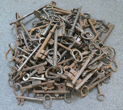 Lot 100  Antique Vintage French Keys Chateau Church Gate Gaol Door Mixed