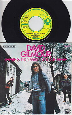 David GILMOUR * There's No Way Out Of Here * 1978 German 45 * PINK FLOYD * PROG