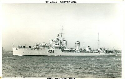 "HMS Delight. ""D"" Class Destroyer. Wright & Logan Photograh"