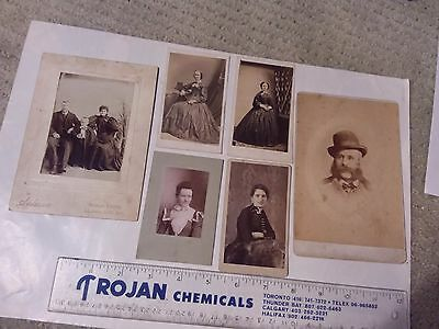 6 Vintage Photos - Men, Women And Family  - St. John N.b.