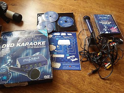 Pop Idol DVD Karaoke Machine with extra 3 dvd set, boxed with instructions