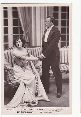 Rotary Real Photo Postcard Lewis Waller Evelyn Millard In The Explorer #7435A