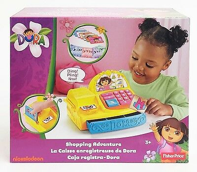 Fisher-Price X2180 Dora The Explorer Shopping Adventure Pretend Cash Register