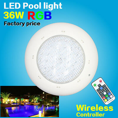36W LED swimming pool light Spa underwater RGB multi-colors + remoter 12V 280mm
