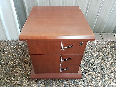 Three drawer mobile timber cabinet