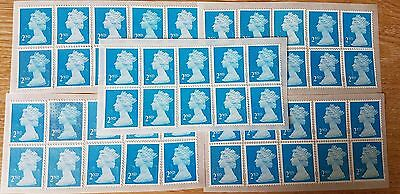 100 Blue 2Nd Class Security Stamps Unfranked With Gum, Easy Peel & Stick.
