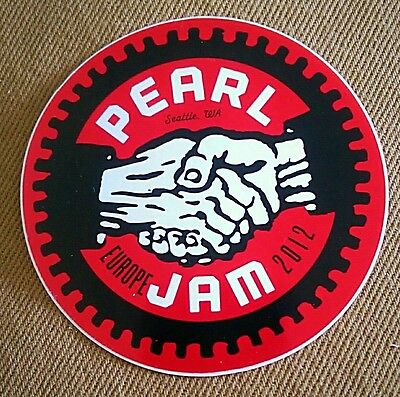 Pearl Jam 2012 European Tour Sticker
