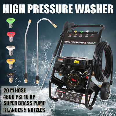 New Black Jet 10Hp 4800 Psi High Pressure Water Washer Cleaner Gurney 20M