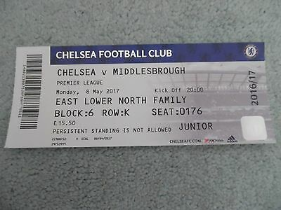 Chelsea V  Middlesborough  2016-17 ticket stub-= immaculate