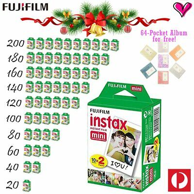 Fujifilm Instax Mini White Film For Fuji Mini 8 9 70 90 25 7s 300 SP-1 SP-2 AU