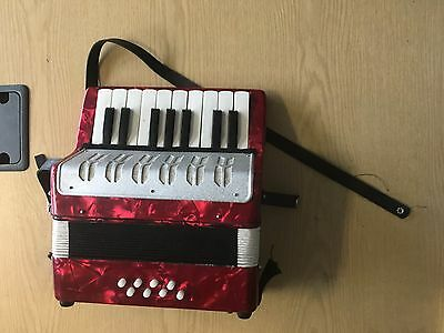 Child Childs Baby Accordion Red Musical Instrument