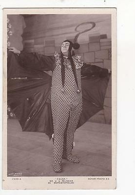 Rotary Real Photo Postcard H G Pelissier As Mephistopheles In Faust #7449A 1909