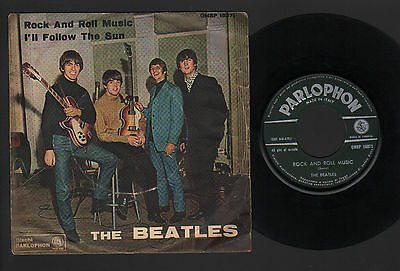 "7"" Beatles Rock And Roll Music / I'll Follow The Sun 1964 Italy Parlophon Green"