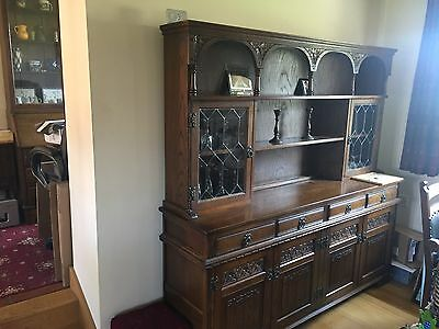 Old Charm Dark Oak Dresser Sideboard Shabby Chic