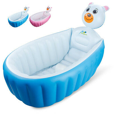 Baby Toddler Inflatable Bath Tub Safety Summer Shower Bathing Travek Bath Pool