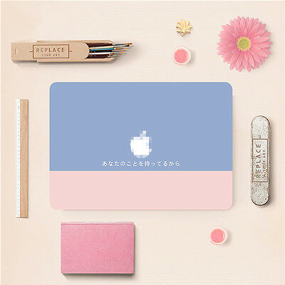 Fresh Pink Gray Color Hybrid Decal Sticker Skin Cover for Macbook Air Pro Retina