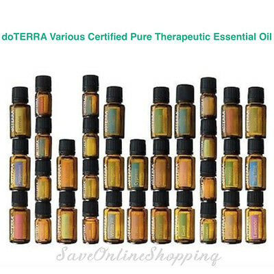 doTERRA Various Therapeutic Grade Pure Essential Oil Aromatherapy + BONUS* Oil