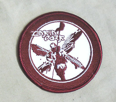 RARE Sew On EMBROIDERED Patch LINKIN PARK Red Winged Soldier P528 7.5cm Diameter