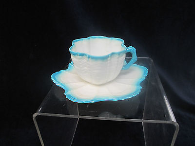 Vintage Delicate Porcelain Coffee Cup and Saucer