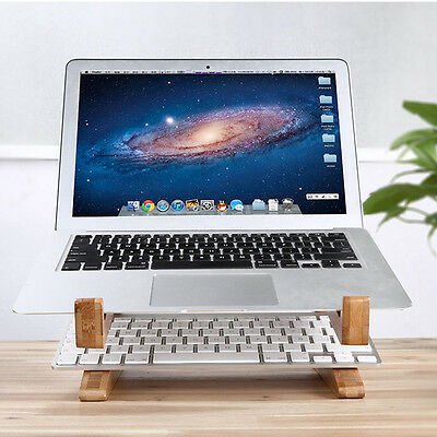 Wooden Detachable Desk Stand Holder Mount For Macbook Tablet PC Laptop Notebook