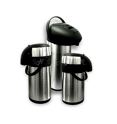 Insulated Airpot Vacuum Flask Pump Action Tea Coffee Dispenser Catering Jug NEW