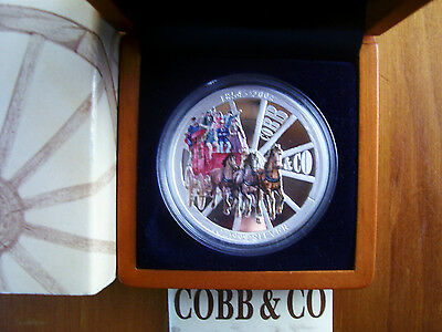 """2004 $1 Silver Proof Coin: """"Cobb & Co."""""""