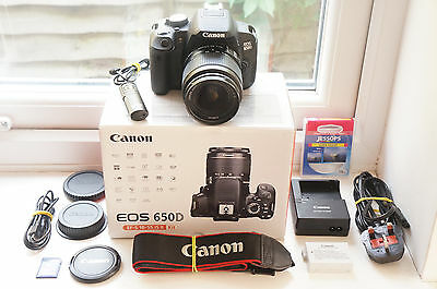 Canon EOS 650D 18.0MP Digital SLR Camera - Black with 18-55mm EF-S IS II Lens