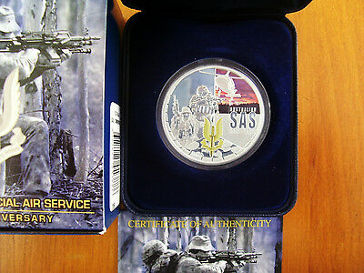 """2007 $1 Silver Proof Coin: """"Special Air Service."""""""